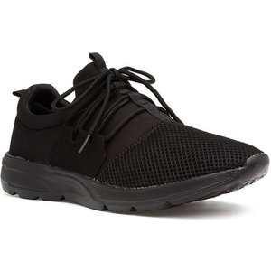 Xl Mens Black Lace Up Mesh Trainer 83073 Mens Footwear