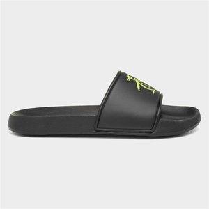 Penguin Pier Slider Sandal Black And Yellow 599019 Mens Footwear