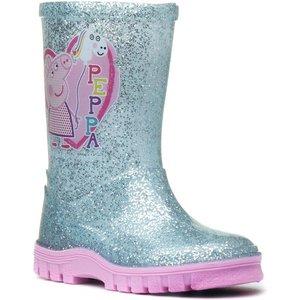 Peppa Pig Kids Silver Wellington 79155 Childrens Footwear