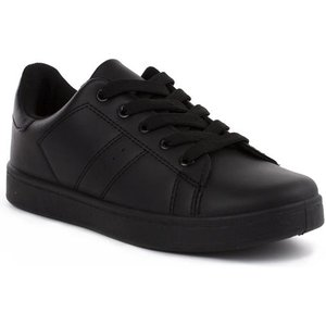 Podium Boys Lace Up Trainer In Black 82008 Childrens Footwear