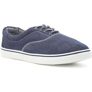 Red Fish Mens Denim Blue Lace Up Canvas Shoe 59358 Mens Footwear