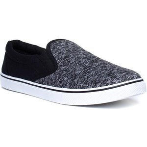 Red Fish Mens Grey And Black Slip On Canvas 59364 Mens Footwear