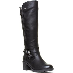 Relife Womens Black Buckle Boots 18260 Womens Footwear