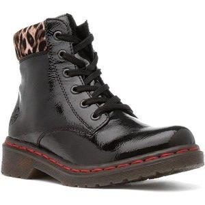 Rieker Womens Black Lace Up Ankle Boot 18542 Womens Footwear
