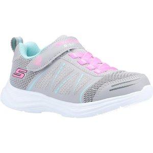 Skechers Girls Glimmer Kicks Lights In Grey 802018 Childrens Footwear