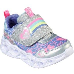 Skechers Girls Heart Lights In Metallic 800005 Childrens Footwear