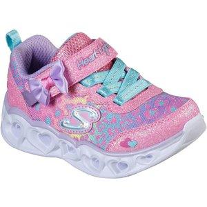 Skechers Girls Heart Lights In Pink 800004 Childrens Footwear