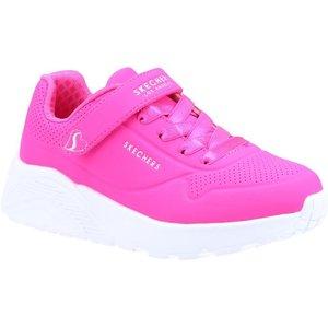 Skechers Girls Uno Lite Trainers In Pink 204026 Childrens Footwear