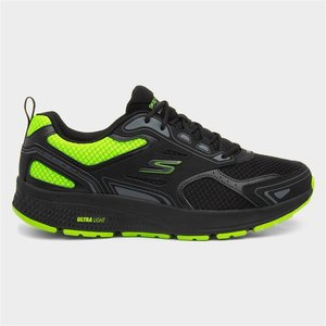 Skechers Go Run Black And Lime Mens Lace Up Trainer 808022 Mens Footwear