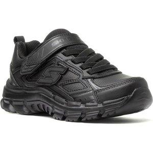 Skechers Nitrate Microblast Boys Black Shoe 20376 Childrens Footwear