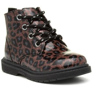 Sprox Girls Brown Lace Up Leopard Ankle Boot 28105 Childrens Footwear
