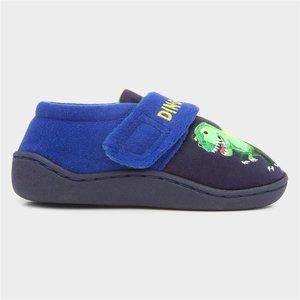 The Slipper Company Kids Blue Dinosaur Slipper 696004 Childrens Footwear