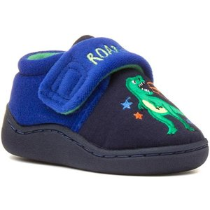 The Slipper Company Kids Navy And Blue Slipper 69663 Childrens Footwear