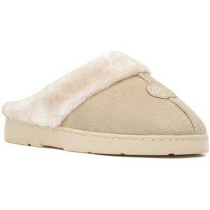 The Slipper Company Womens Beige Mule Slipper 69351 Womens Footwear