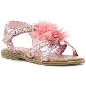 Walkright Girls Pink Cross Strap Glitter Sandal 29282 Childrens Footwear