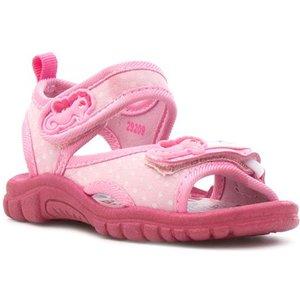 Walkright Girls Pink Seahorses Easy Fasten Sandal 29209 Childrens Footwear