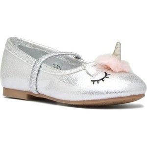 Walkright Girls Silver Unicorn Shoe 20834 Childrens Footwear