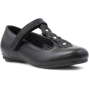 Walkright Girls T-bar Touch Fasten Shoe In Black 20204 Childrens Footwear