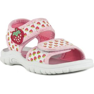 Walkright Girls White And Pink Strawberry Sandal 29200 Childrens Footwear