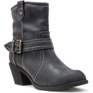 Womens Lilley Grey Cowboy Style Ankle Boot 18154 Womens Footwear