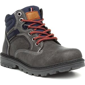 Wrangler Yukon Kids Grey Lace Up Ankle Boot 28035 Childrens Footwear