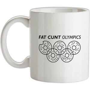 Chargrilled Fat C**t Olympics Mug. G0fatcuntolympics Novelty T Shirts