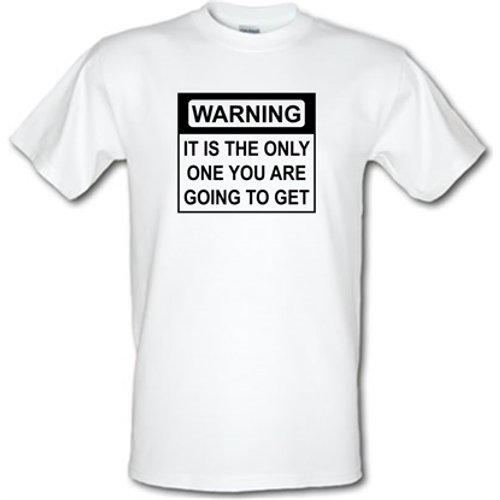 Chargrilled Only One Warning Male T-shirt. M0onlyonewarning Novelty T Shirts