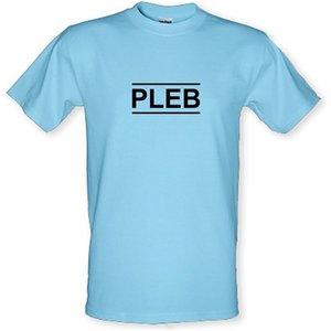 Chargrilled Pleb Male T-shirt. M0pleb Novelty T Shirts