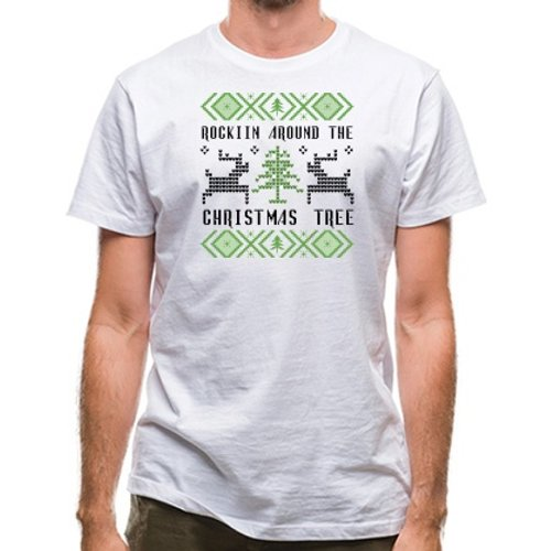 Chargrilled Rockin' Around The Christmas Tree Classic Fit. C0rockinaroundthechristmastree Novelty T Shirts