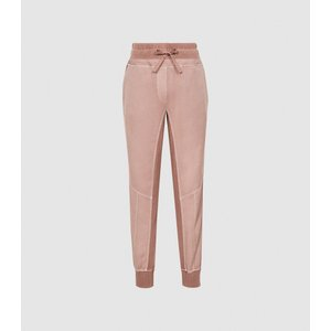 Reiss Adrianna - Paneled Loungewear Joggers In Blush, Womens, Size 10 Pink Reiss26808667010, Pink