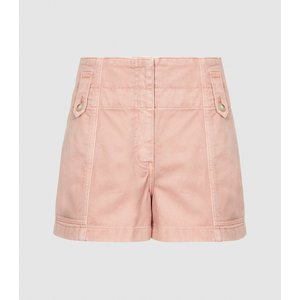 Reiss Alana - Cotton Cargo Shorts In Pink, Womens, Size 14 Reiss19800766014, Pink