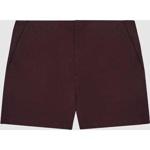 Reiss Alexander - Tipped Swim Shorts In Bordeaux, Mens, Size S Reiss43801164001, Bordeaux