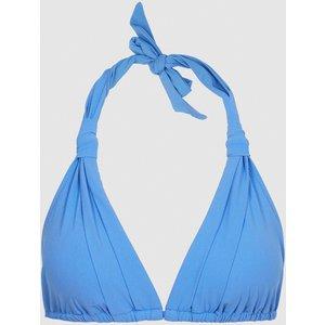 Reiss Annabella - Knot Detail Triangle Bikini Top In Cornflower Blue, Womens, Size 14 Reiss97802133014, Cornflower Blue