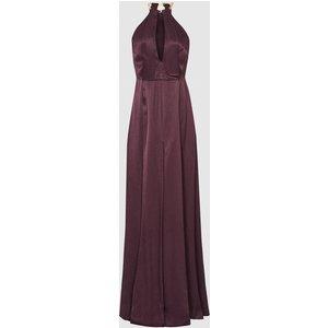 Reiss Anne - Chain Detail Maxi Dress In Berry, Womens, Size 4 Purple Reiss29736366004, Purple