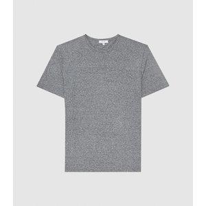 Reiss Atlanta - Melange Crew Neck T-shirt In Grey, Mens, Size S Reiss42704843001, Grey