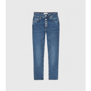 Reiss Bailey - Mid Rise Slim Cropped Jeans In Mid Blue, Womens, Size 26r Reiss20801831185, Blue