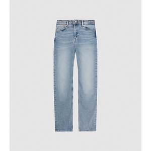 Reiss Bay - High Rise Slim Straight Cut Jeans In Mid Blue, Womens, Size 27 Reiss20701731027, Blue