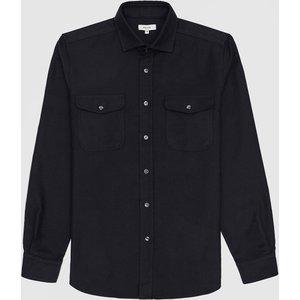 Reiss Boscelli - Twin Pocket Overshirt In Navy, Mens, Size S Reiss32512530001, Navy