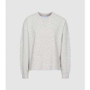 Reiss Brooke - Relaxed Loungewear Sweatshirt In Grey, Womens, Size L Reiss86805943003, Grey