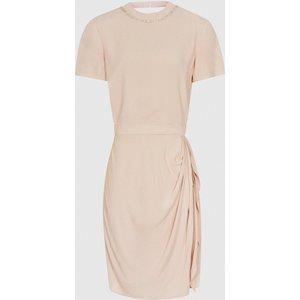 Reiss Brooklyn - Diamante Detail Dress In Nude, Womens, Size 8 Reiss29643303008, Nude