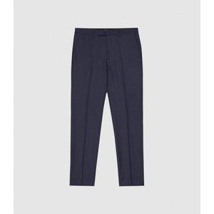 Reiss Capri - Wool Blend Slim Fit Trousers In Navy, Mens, Size 36 Reiss21320630036, Navy