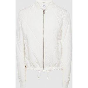 Reiss Carla - Lightweight Puffer Jacket In Cream, Womens, Size 4 Reiss65806202004, Cream