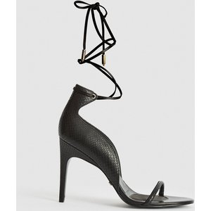 Reiss Coco - Leather Strappy Wrap Sandals In Black, Womens, Size 3 Reiss85706420036, Black