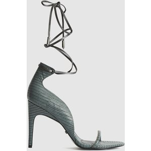 Reiss Coco - Leather Strappy Wrap Sandals In Grey, Womens, Size 7 Reiss85705543040, Grey