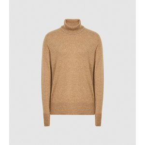Reiss Colette - Cashmere Roll Neck In Camel, Womens, Size L Brown Reiss55715113003, Brown