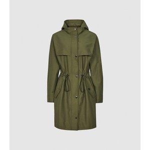 Reiss Cora - Lightweight Parka Jacket In Khaki, Womens, Size 14 Reiss65705051014, Khaki