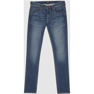 Reiss Croft - Paige High Stretch Super Skinny Jeans In Washed Indigo, Mens, Size 32 Washed Indigo Blue Reiss23904231532, Washed Indigo Blue