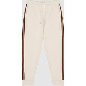 Reiss Danica - Side Stripe Loungewear Joggers In Ivory, Womens, Size M Reiss86806001002, Ivory