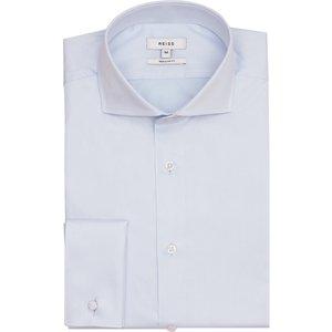 Reiss Detroller Reg - Two Fold Double Cuff Regular Fit Shirt In Soft Blue, Mens, Size M Reiss31309932002, Soft Blue