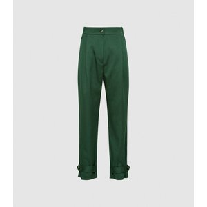 Reiss Duke - Pleat Front Tapered Trousers In Green, Womens, Size 16 Reiss26805950016, Green